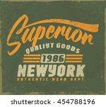 college. tee print vintage... | Shutterstock .eps vector #454788196