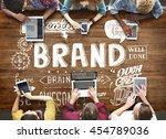 brand branding advertising... | Shutterstock . vector #454789036
