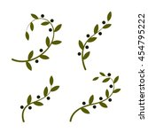 isolated olive branch vector... | Shutterstock .eps vector #454795222