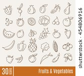 fruits and vegetables... | Shutterstock .eps vector #454806916