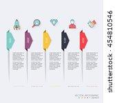 timeline infographic design... | Shutterstock .eps vector #454810546