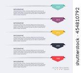 timeline infographic design... | Shutterstock .eps vector #454810792