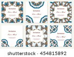 invitation graphic card with... | Shutterstock .eps vector #454815892