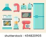 kitchen retro appliances set.... | Shutterstock .eps vector #454820905