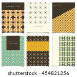 vector card set with abstract... | Shutterstock .eps vector #454821256