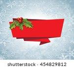 christmas banner ribbon label... | Shutterstock .eps vector #454829812