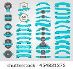 set ribbons and tags vector... | Shutterstock .eps vector #454831372