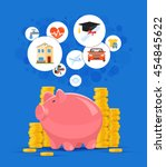 saving money concept vector... | Shutterstock .eps vector #454845622