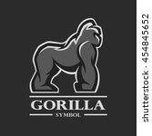 gorilla symbol  logo  labels ...   Shutterstock . vector #454845652