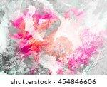 abstract watercolor art . hand... | Shutterstock . vector #454846606
