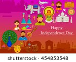 15th august  happy independence ... | Shutterstock .eps vector #454853548