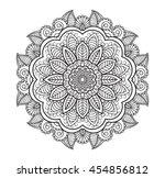 flower mandala. vintage... | Shutterstock .eps vector #454856812