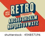 Vector of stylized retro font and alphabet | Shutterstock vector #454857196