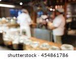 abstract blur of dessert... | Shutterstock . vector #454861786