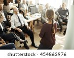 seminar meeting office working... | Shutterstock . vector #454863976