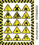 15 warning signs | Shutterstock .eps vector #45486850