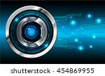 blue abstract cyber future... | Shutterstock .eps vector #454869955