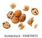 Cracking Walnuts On White  Top...