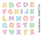 Alphabet With Stitching  Paste...