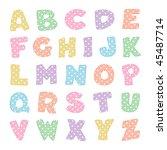 Alphabet With Stitching  Paste...