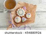 biscuits lavender cookies with... | Shutterstock . vector #454880926