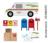vector illustration of postal... | Shutterstock .eps vector #45488395