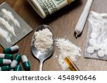 drug use  crime  addiction and... | Shutterstock . vector #454890646