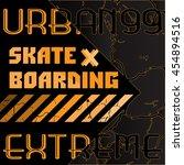 t shirt graphics  typography.... | Shutterstock .eps vector #454894516
