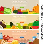 food banners set with... | Shutterstock .eps vector #454896892