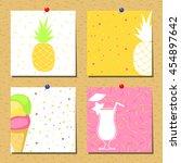 vector set of bright summer... | Shutterstock .eps vector #454897642