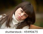 portrait of a beautiful woman   Shutterstock . vector #45490675
