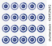 set template icon pie blue...   Shutterstock .eps vector #454919692