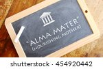"Small photo of Alma mater. Latin phrase, translated into English as ""nourishing mother"", ""nursing mother"", or ""fostering motherâ?�."