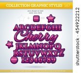 cherry wine graphic styles for... | Shutterstock .eps vector #454922212