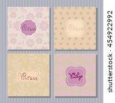 set of unique templates cards ...   Shutterstock .eps vector #454922992