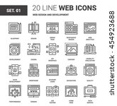 vector set of web design and...