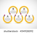 education pencil option... | Shutterstock .eps vector #454928392
