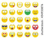 emoji. emoticons smile icon set.... | Shutterstock .eps vector #454933876