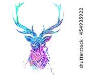 Ornament Deer Vector. Beautifu...