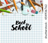back to school background with... | Shutterstock .eps vector #454936762