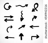 hand drawn arrows  vector set | Shutterstock .eps vector #454942216
