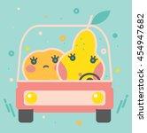 colorful apple illustration ... | Shutterstock .eps vector #454947682