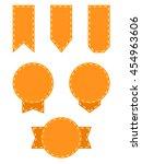 set of retro blank label vector ... | Shutterstock .eps vector #454963606