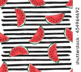 water melon seamless pattern... | Shutterstock .eps vector #454964692