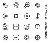 vector line target icon set | Shutterstock .eps vector #454967416