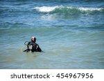 sea diver | Shutterstock . vector #454967956