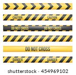 vector set of seamless danger... | Shutterstock .eps vector #454969102