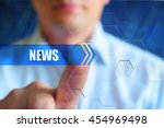 news concept image. person... | Shutterstock . vector #454969498