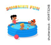 summer fun conceptual vector.... | Shutterstock .eps vector #454973248