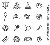 vector line toys icon set | Shutterstock .eps vector #454975252